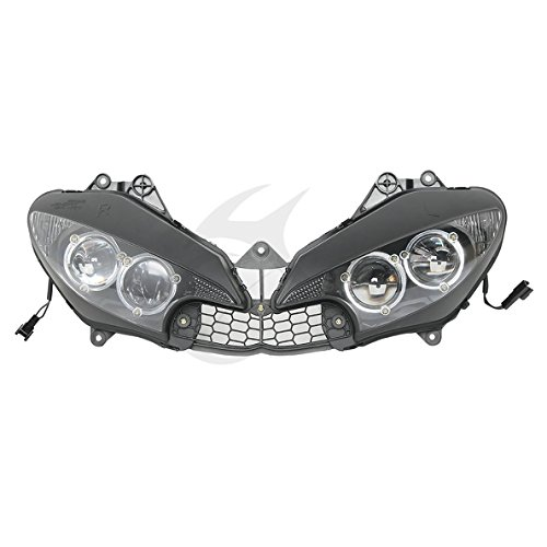 TCMT Motorcycle Black Left & Right Headlight Head Light Lamp Assembly For Yamaha YZF R6 2003-2005 R6S 2006 2007 2008 2009 (Yamaha R6s Headlights compare prices)