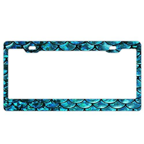 huizehonghong License Plate Frame For Women,Blue