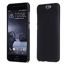 HTC One A9 Case,Gift_Source [Black] [Slim Fit] Premium Rubber Fashion Colorful Matte Hard case cover Non Slip Rubber Protective for HTC One A9