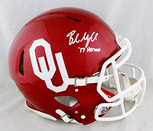 Baker Mayfield Autographed Oklahoma Sooners Speed ProLine Helmet '17 Heisman-Beckett Auth ()
