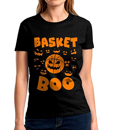 Basket Boo Spooky Halloween Costume Basketball Pumpkin Ball Jack-O'-Lantern Face Trick or Treating Sports Lover Handmade T-Shirt Hoodie Long Sleeve Tank Top Sweatshirt ()