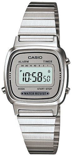 Casio Illuminator Digital Watch (Casio Women's LA670WA-7 Silver Tone Digital Retro Watch)
