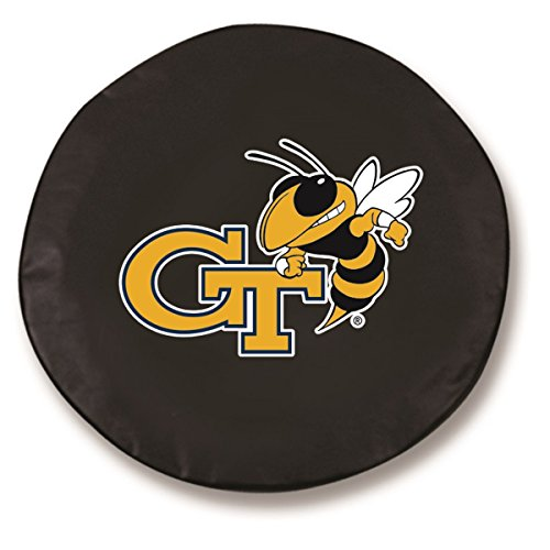 (Georgia Tech Yellow Jackets HBS Black Fitted Car Tire Cover (34