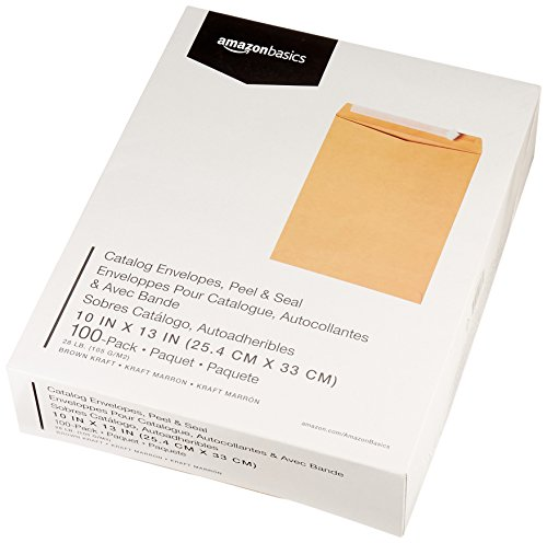 AmazonBasics Catalog Envelopes, Peel & Seal, 10 x 13 Inch, Brown Kraft, 100-Pack Photo #4