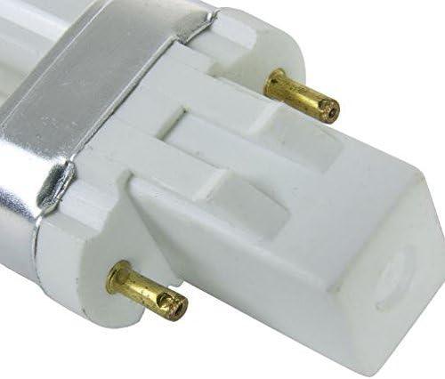 HC Lighting 1//PK LED Plug and Play Fluorescent Replacement Ballast GX23 Bi-Pin Base HYBrid Natural White 5.5 Watt LED 2700K 450 Lumen Output LED Retro Fit BulbLight Bulb