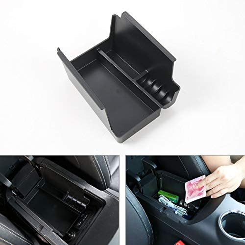 - CheroCar Car Center Console Armrest Storage Box Organizer Tray for Ford Mustang 2015 2016(Black)
