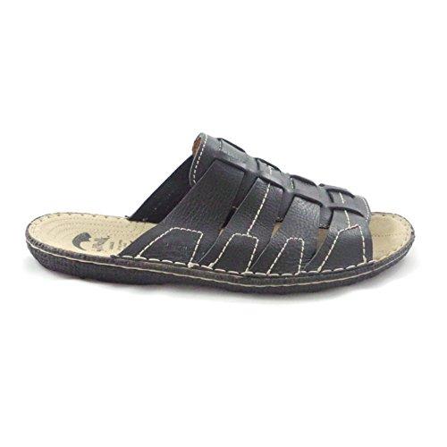 Homme Enfiler Sandales À Softwalk Cuir Décontracté Noir En wq0z7zXd