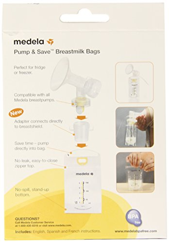 Large Product Image of Medela Pump and Save Breast Milk Bags, 50 Count