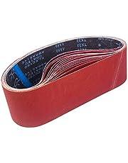 Schuurbanden, 100 x 915 mm, schuurbandenset van 3 x korrel 80/120/150/240/400 voor bandschuurmachine, voor schuren, vijlen, slijpen en ontroesten (15 stuks) -STEBRUAM