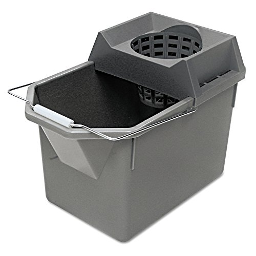 (Rubbermaid Pail and Mop Strainer Combination, 15 Qt. Capacity, Gray (6194STL))