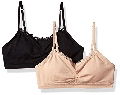 Fruit of the Loom Girls Seamless Bralette with Lace(Pack of 2)