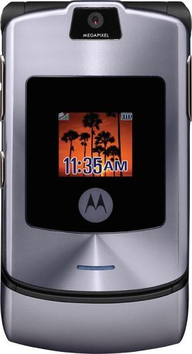 (Motorola RAZR V3i Unlocked Phone with Camera, MP3/Video Player, and MicroSD Slot-International Version with No Warranty (Silver/Gray) (Certified Refurbished))
