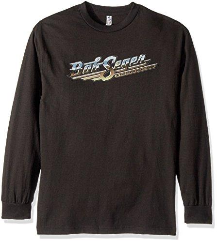 FEA Merchandising Men's Bob Seger and The Silver Bullet Band Short Sleeve T-Shirt, Black Runaway Train, Small ()
