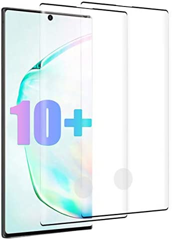 Galaxy Note 10 Plus/Note 10+/10+ 5G/Note 10 Plus/10 Pro 5G Screen Protector, Tempered Glass 3D Curved EDG Coverage Anti-Scratch, Bubble Free and Case Friendly [2Pack]