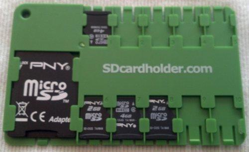 Micro SD Card Organiser (Green)