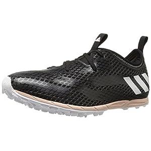 adidas Performance Women's XCS Spikeless W Cross-Country Running Shoe, Black/White/Vapor Pink F16, 9 M US