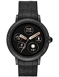 Women's Riley Touchscreen Smartwatch Stainless Steel Watch with Silicone Strap, Black, 20 (Model: MJT2005)