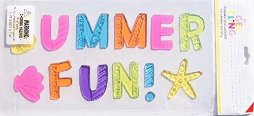 Impact Innovations Summer Fun! Window Gel Clings - 13 Piece