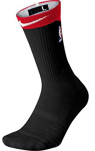 Nike Men's NBA Elite Quick Crew Basketball Socks Black/Red Size L (Gold And Black Nike Elite Socks)