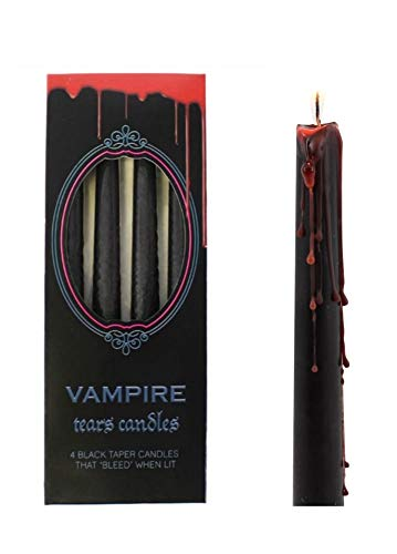 Taper Candles ~ Gothic/Halloween ~ VAMPIRE TEARS ~ Set of 4 ~ Drip Red When ()