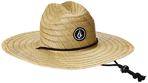 Volcom Men's Quarter Straw Hat, Natural, (Mens Straw Hat)