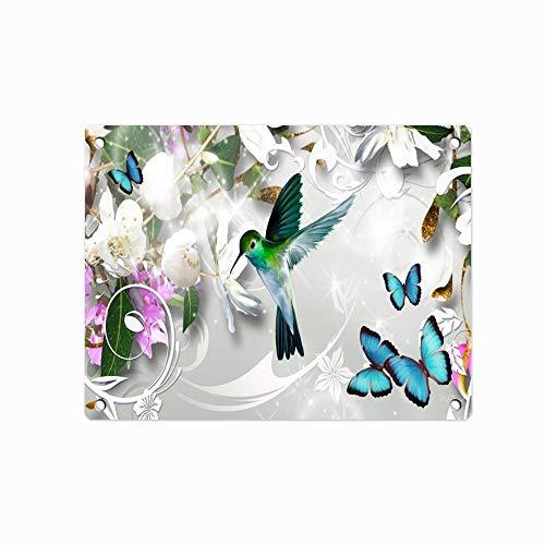 "Spring Flowers Hummingbird Butterflies DIY Wall Art Metal Tin Sign Farmhouse Home Kitchen Bedroom Dining Room Bathroom Decor 12"" x 8"" ()"