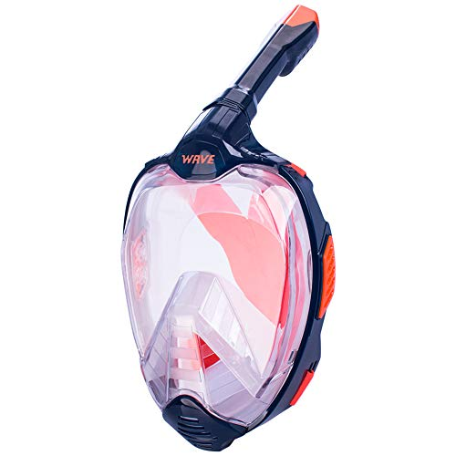 ZXDBK Full Face Snorkel Mask, Snorkelling Packages Foldable Snorkel Masks with Detachable Camera Mount 180 Panoramic Easy Breathing for Adults or Kids Anti-Fog ()