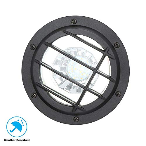 Hampton Bay HD38725 Low Voltage LED Black Well Light (Hampton Bay Low Voltage Led Landscape Lighting)