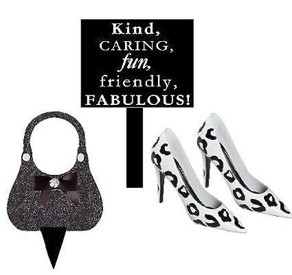 da7332b38f75c Amazon.com: Ladies Mini Miniature Stilettos Shoes Bag & Sign Toy ...