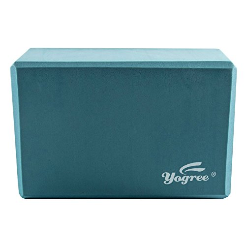 Yogree (1-PC) Yoga Blocks, 9″x6″x4″ – High Density EVA Foam Brick Provides Stability Balance & Support, Improve Strength and Deepen Poses – Great for Yoga, Pilates, Workout, Fitness & Gym (Turquoise)