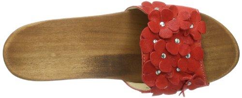 Woody Lilli 14250/85 - Zuecos de cuero para mujer Rojo (Rot (Dixan Rot))