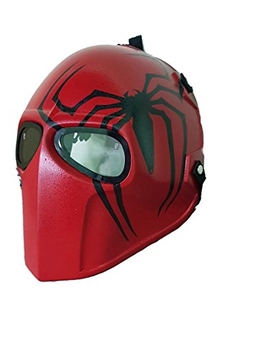 [Spider Man Airsoft Mask Paintball Protective Gear Outdoor Sport Fancy Party Ghost Masks Bb Gun] (Daredevil Costumes Replica)