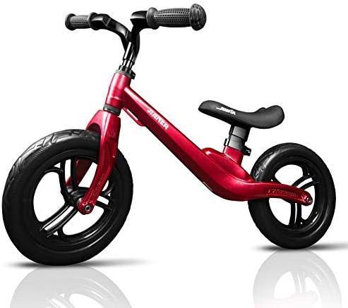 YSA バランスバイクキッズペダルなし調整可能な高さに乗ることと、2歳から6歳までスタンドに乗ることを学ぶバイク前のプッシュウォーキング自転車
