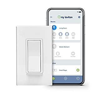 Leviton DW15S-1BZ Decora Smart Wi-Fi 15A Universal LED/Incandescent Switch, Works with Amazon Alexa, No Hub Required (B01MU9SH77) | Amazon Products