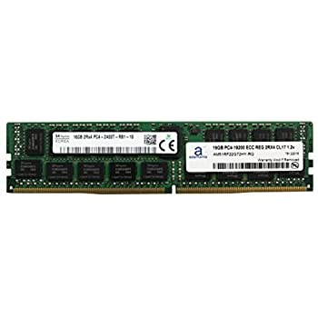 Image of Adamanta 16GB (1x16GB) Server Memory Upgrade Compatible Compatible for Dell Poweredge, HP Apollo & HP Proliant Servers DDR4 2400MHZ PC4-19200 ECC Registered Chip 2Rx4 CL17 1.2v DRAM RAM Memory
