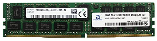 Hynix Original 16GB (1x16GB) Server Memory Upgrade for Dell Poweredge, HP Apollo & HP Proliant Servers DDR4 2400MHZ PC4-19200 ECC Registered Chip 2Rx4 CL17 1.2v DRAM RAM (Poweredge 2400 Server)