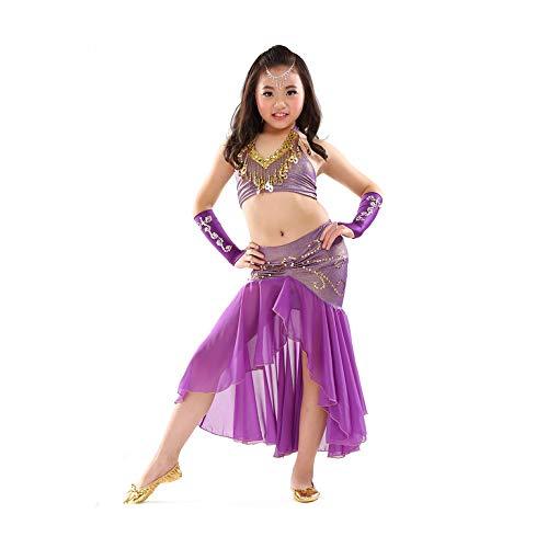 Danza Egipcia Traje Traje Danza Vientre para Niños Top + Falda 2 ...