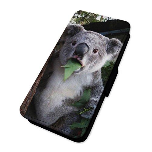 Funny koala Bear Eating–Flip cover in pelle copertura di carta Apple Iphone 7