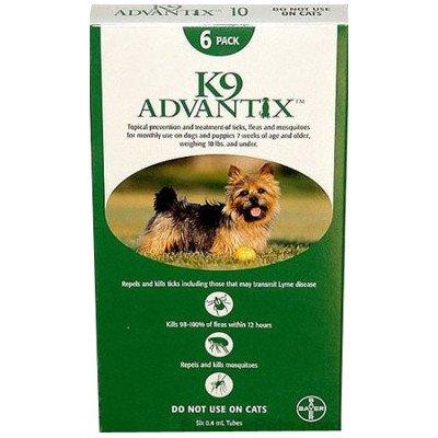 (K9 Advantix Flea & Tick Medication for Dogs Supply: 6 Months, Pet Weight: Under 10 lbs)