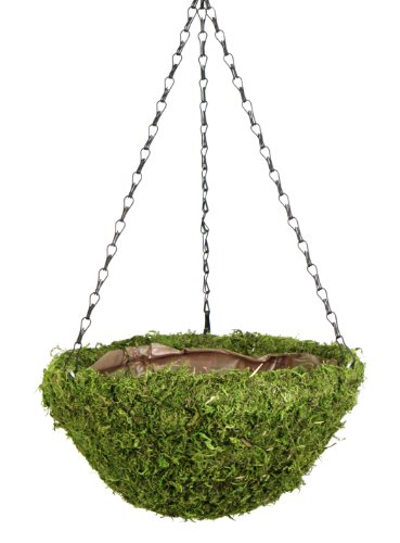 SuperMoss (29200) MossWeave Hanging Basket - Round, Fresh Green, Large (16.5