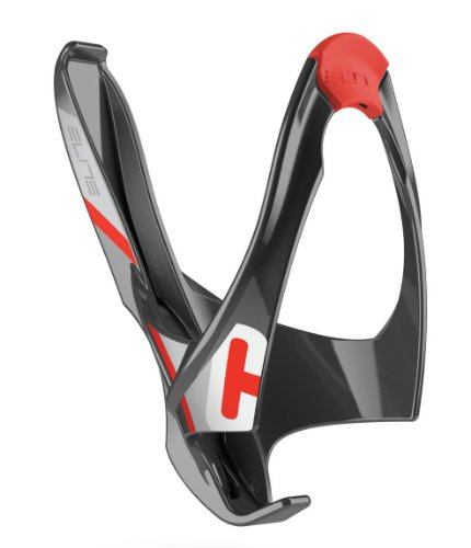 Side Cage Entry (Elite Cannibal Water Bottle Cage Black/Red, One Size)