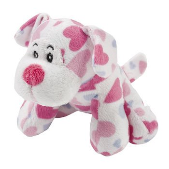 Plush Heart Print Dogs - Valentines Day & Stuffed Animals & Toys
