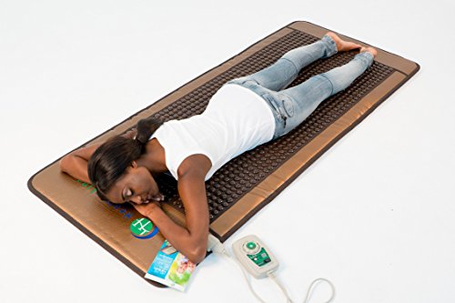 HealthyLine Far Infrared Heating Mat - For Pain Relief, Stress & Insomnia 76'' x 32'' | Natural Tourmaline Stone | Negative Ions (XL & Firm) | FDA Registered by HealthyLine (Image #6)'