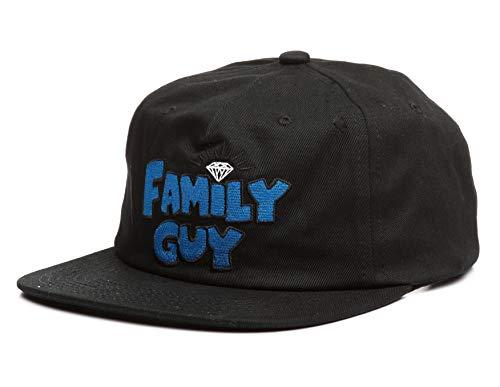 Diamond Supply Co. X Family Guy Unstructured Snapback Hat Black (The Hundreds X Diamond Supply Co Snapback)