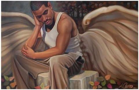 AFRICAN AMERICAN ART PRINT ANGELS 24X36 POSTER