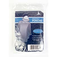 The Weather Station Emergency Rain Poncho With Hood - Reusable, 6-pack