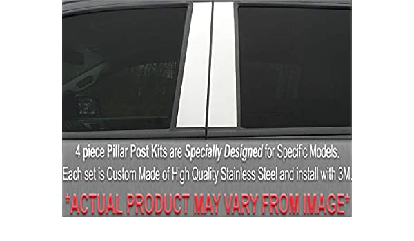 Stainless Steel Pillar Post Chrome Door Trim 4PC For Audi A6 2005-2011