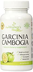 Pure Garcinia Cambogia 1600mg + Our Weight Loss Program For Free - 60% HCA - 60 Capsules - 800 mg/capsule - Natural Appetite Suppressant & Metabolism Booster