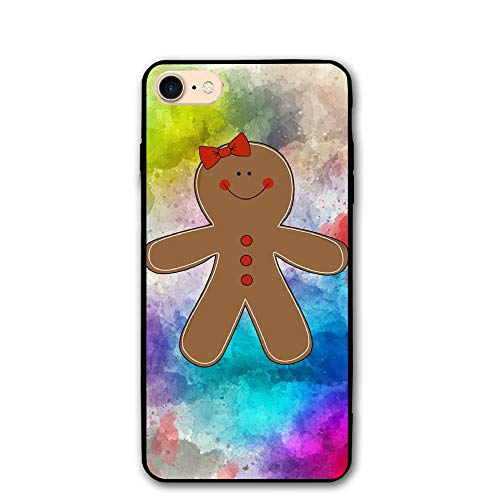 Gingerbread Woman Clipart iPhone 8/8S iPhone 7/7S Case Shock-Absorption Bumper Cover Anti-Scratch Clear Back (HD Clear)
