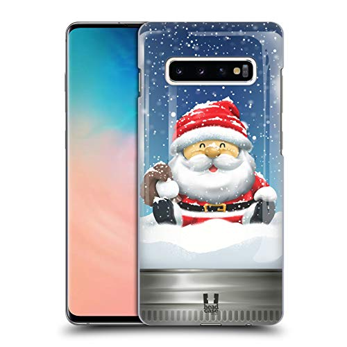 (Head Case Designs Santa Christmas in Jars Hard Back Case Compatible for Samsung Galaxy S10+ / S10 Plus)